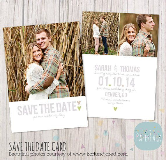 Save the Date Card Template AW007 INSTANT by PaperLarkDesigns ...