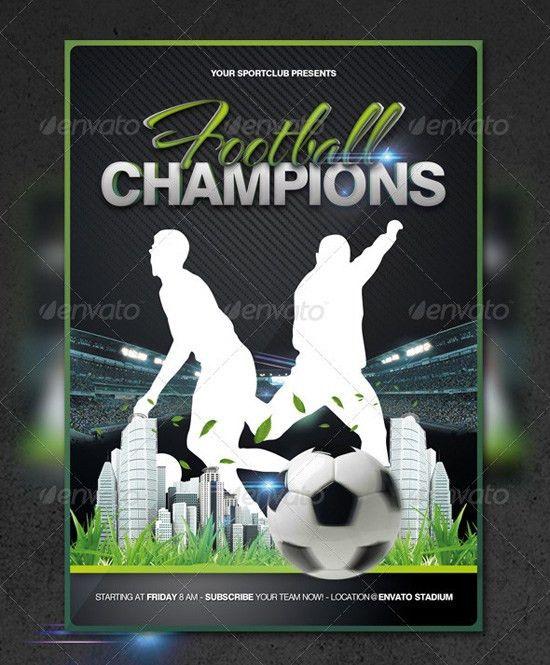 Top 20 Soccer / Football Flyer Templates | 56pixels.com
