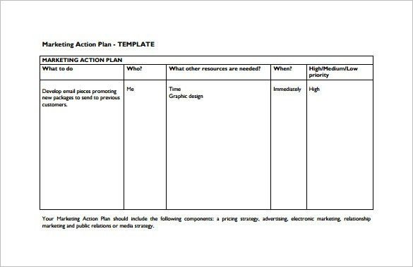 Marketing Action Plan Template – 9+ Free Sample, Example, Format ...