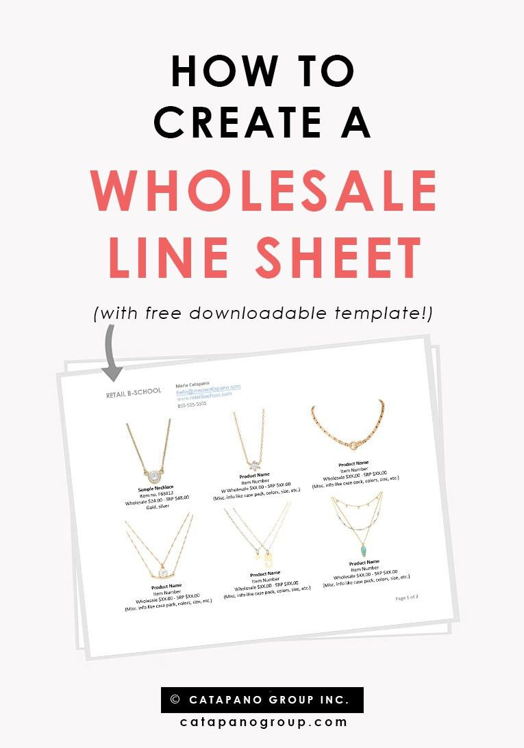 How To Create A Wholesale Line Sheet — CATAPANO GROUP