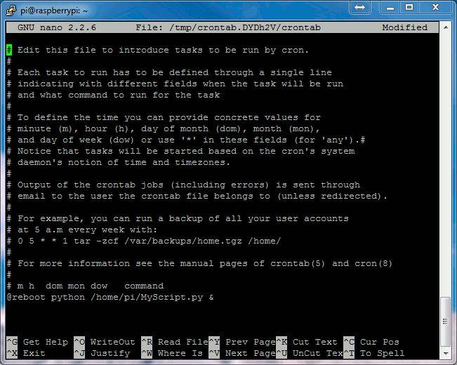 Running A Python Script At Boot Using Cron