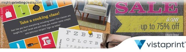 Vistaprint Postcards Coupon: 20% Off & Free Shipping