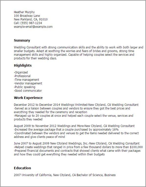 job description. wedding consultant job description bernit bridal ...