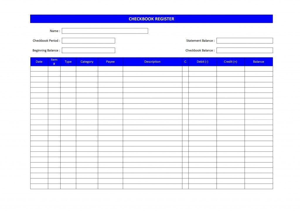 Checkbook Register Template | tristarhomecareinc