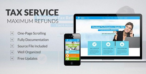 Tax Service - Max Refunds - Muse Template by katzeline | ThemeForest