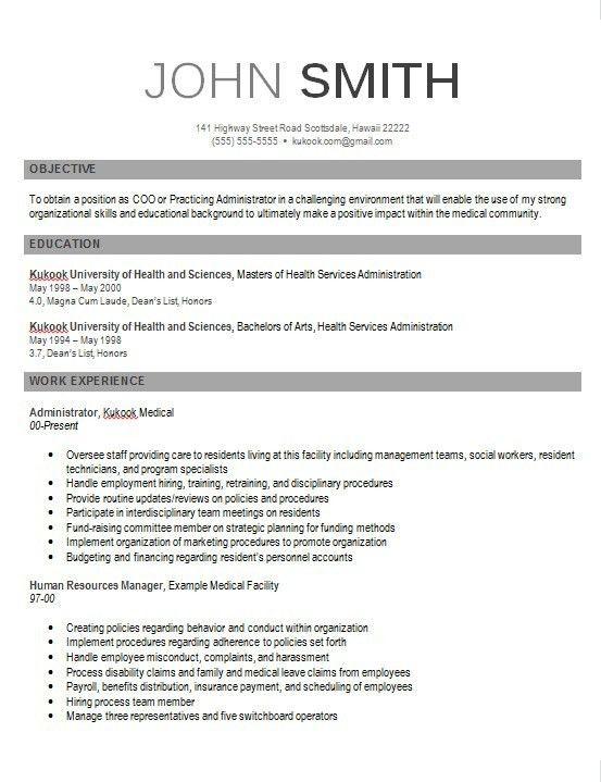 Download Modern Resume Examples | haadyaooverbayresort.com