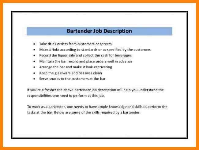 Resume Skills For A Bartender. cocktail server resume skills are ...