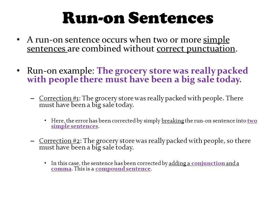 Grammar Unit #2 - Sentences Today's Lesson: Common Sentence Errors ...