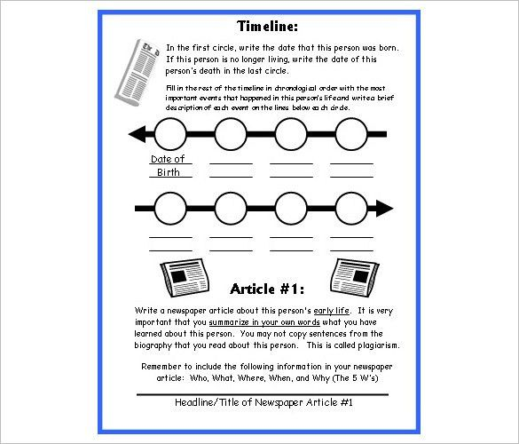 6+ Biography Timeline Templates – Free Word, Excel Format Download ...