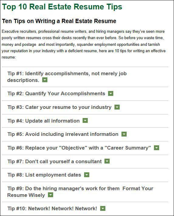 Rebuild Your Real Estate Resume - Real Estate Development Blog ...