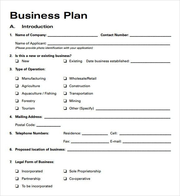 Free Business Plan Templates 2016 | Free Business Template