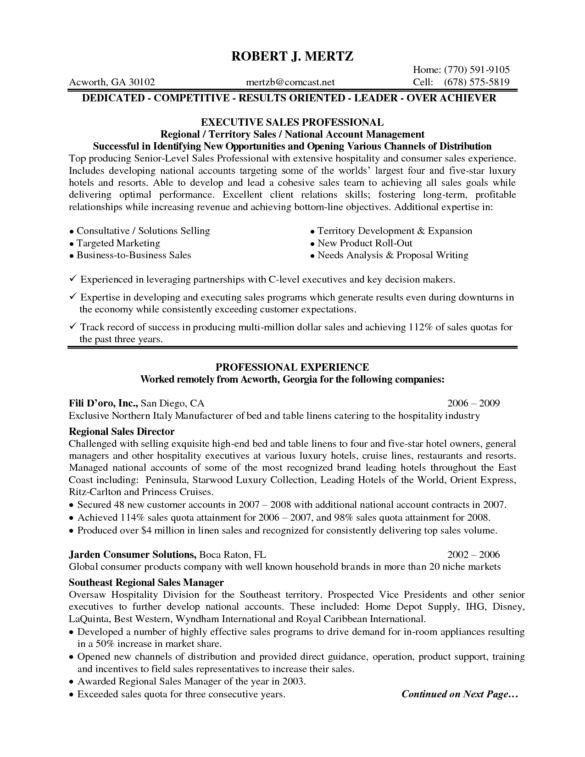 Professional Hotel Sales Manager Resume : Vntask.com