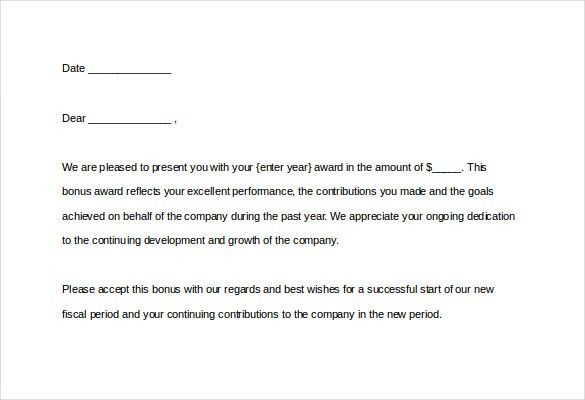 Award Letter Template - 11+ Free Word, PDF Documents Download ...
