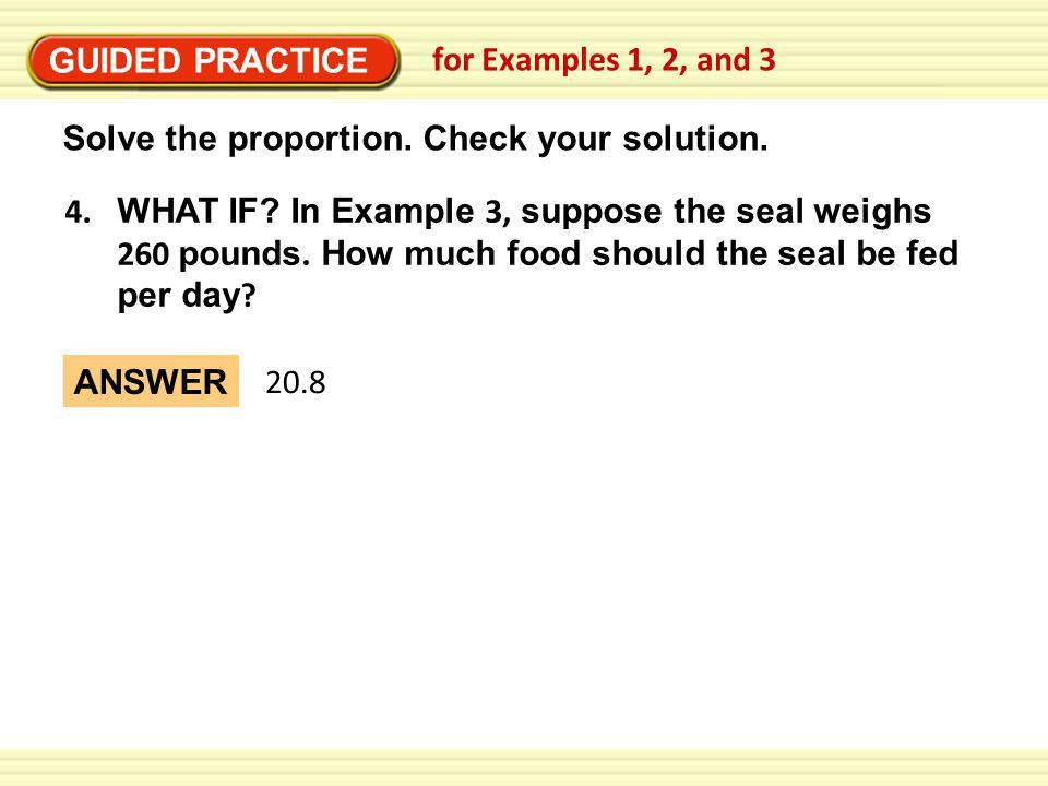 Warm-up: Solve the proportion. - ppt download