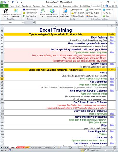 Training Matrix - Skills Matrix template