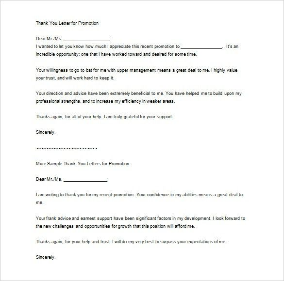 20+ Thank You Letter To Boss Templates – Free Sample, Example ...