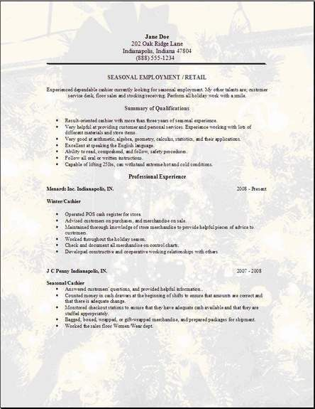 Resume Templates For Jobs