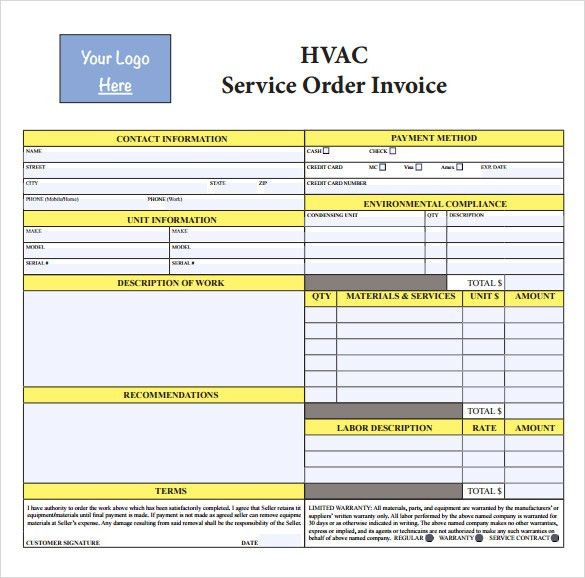 Hvac Invoice Template. 19 Best Hvac Invoice Templates Images On ...