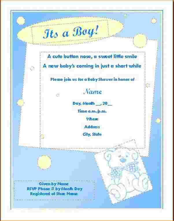 4+ baby shower invitation templates for word | Outline Templates