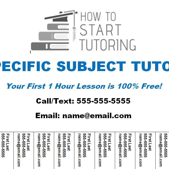 Tutoring Business Template Bundle (6 Templates +1 Free) – How to ...