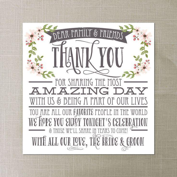 Best 25+ Wedding thank you ideas on Pinterest   Wedding thank you ...