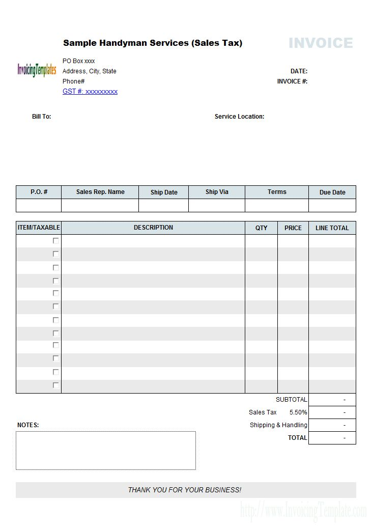 Mac Invoice Template