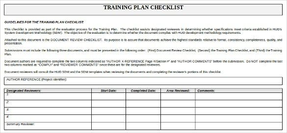 Training Checklist Template - 10+ Free Word, Excel, PDF Documents ...