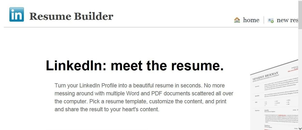 Resume Builder Linkedin - Resume Example