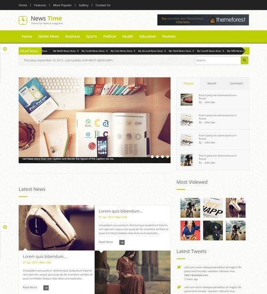 25+ Best HTML5 Magazine Templates - Web Creative All