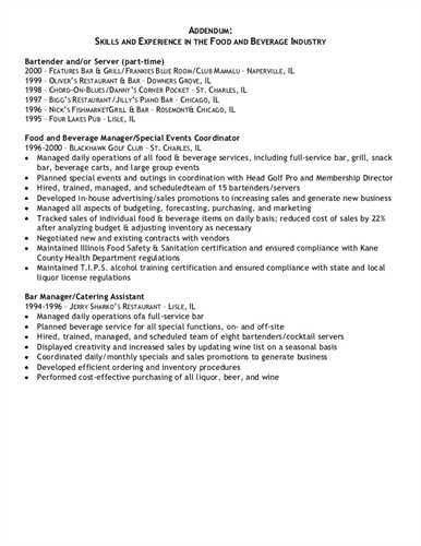 resume addendum example Source: