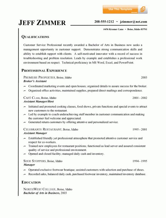 Customer Service Resume Example | Resume review, Customer service ...