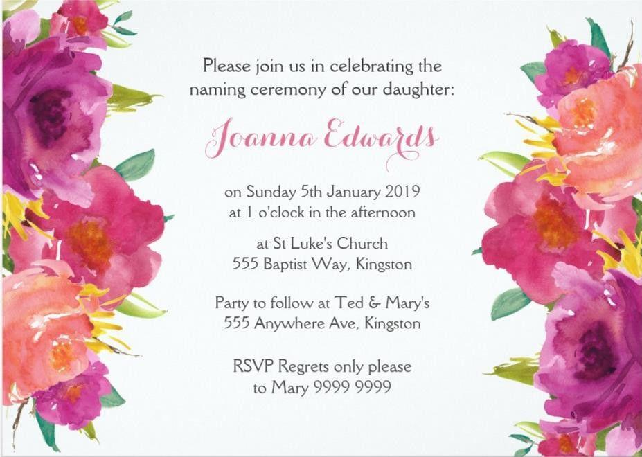 15+ Print Ready Naming Ceremony Invitation Template – PSD,Ai ...