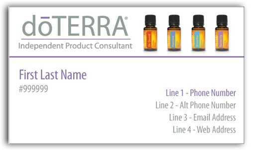 doterra business card template best 25 doterra business cards ...