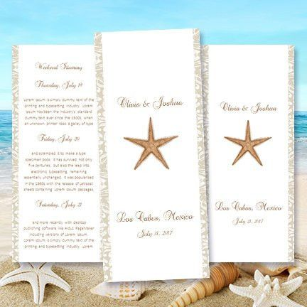 Destination Wedding Itinerary Template Starfish