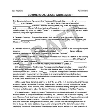Commercial Lease Agreement | Legal Templates