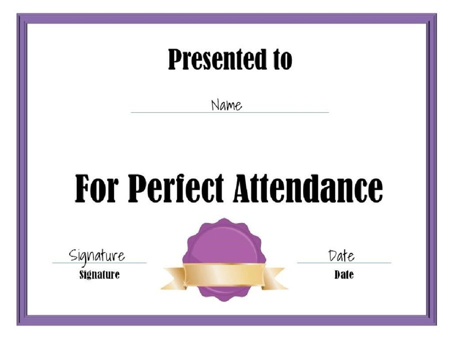 Certificate of Attendance - Free Certificate of Attendance ...