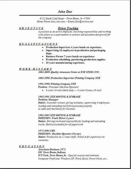 Resume Examples Truck Driver. Resume. Ixiplay Free Resume Samples
