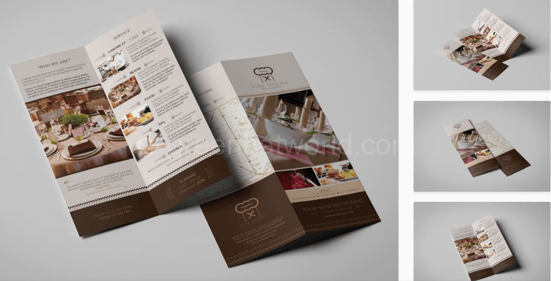 Download Fine Dining Restaurant Brochure Template PSD Free