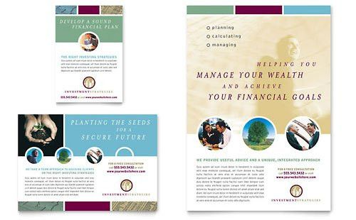 Financial Planning | Print Ad Templates | Financial Services