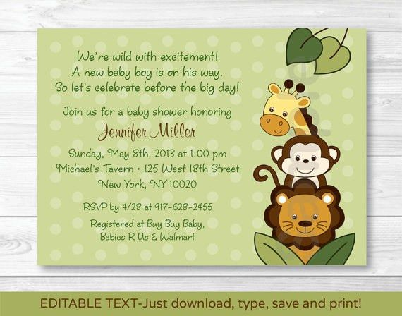 Baby Shower Templates Word, 42 best baby shower invitation ...