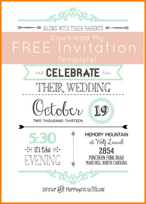 7+ free wedding invitation templates for word | artist resume