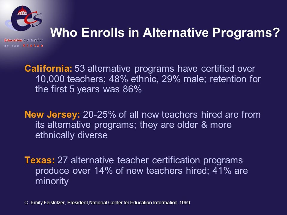 Alternative Certification: A National Perspective - ppt video ...