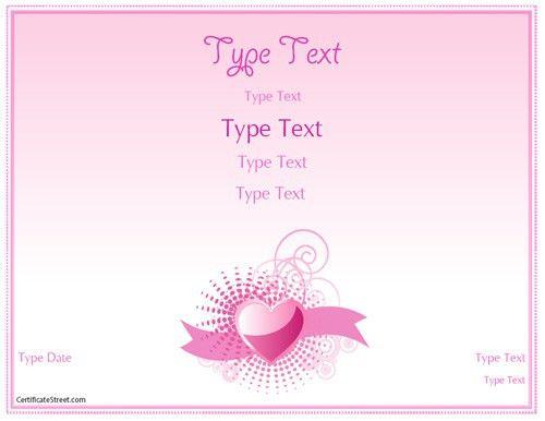 Relationships Certificate - Romance Love Certificate Template ...