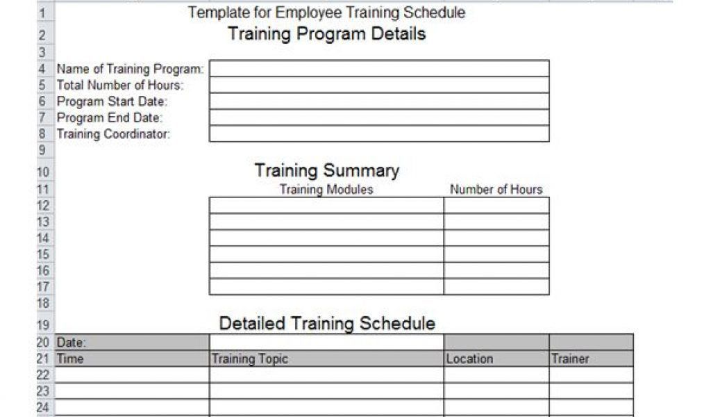 Employee Training Template. free human resources templates in ...
