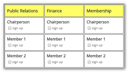 TimeToSignUp - Free Online Sign Up Sheets and Registration Forms