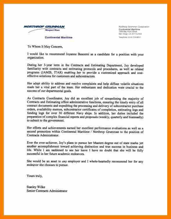 Reference Letter Template For Employer.recommendation Letter ...