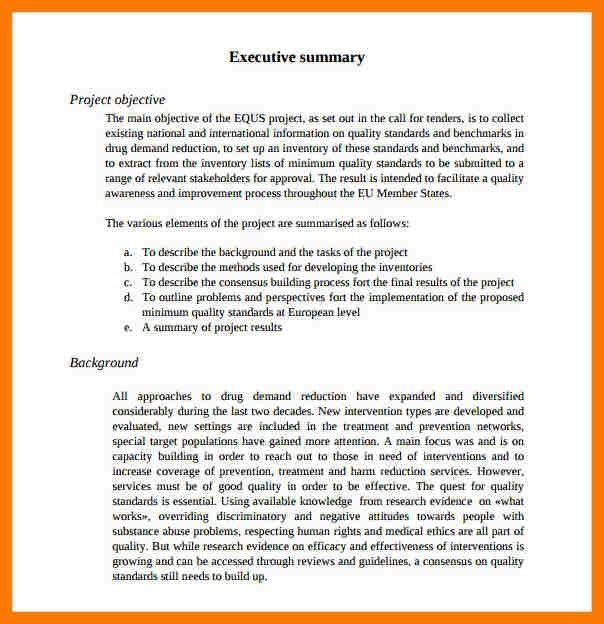 10+ project executive summary | park-attendant