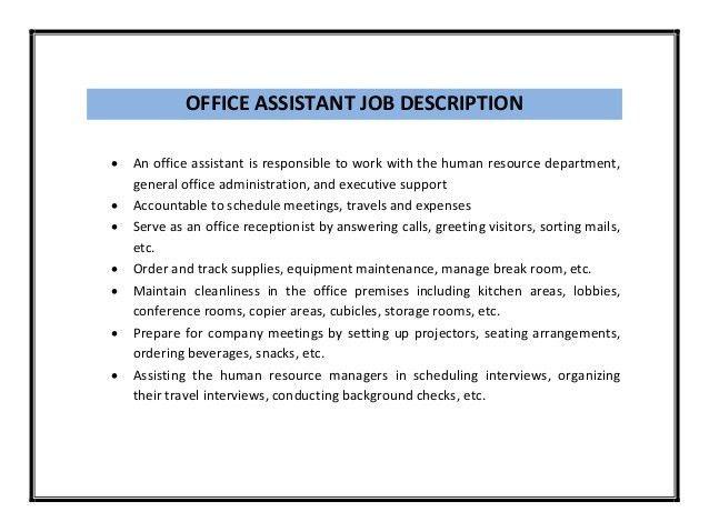 Enchanting Office Clerk Job Description For Resume 55 About ...