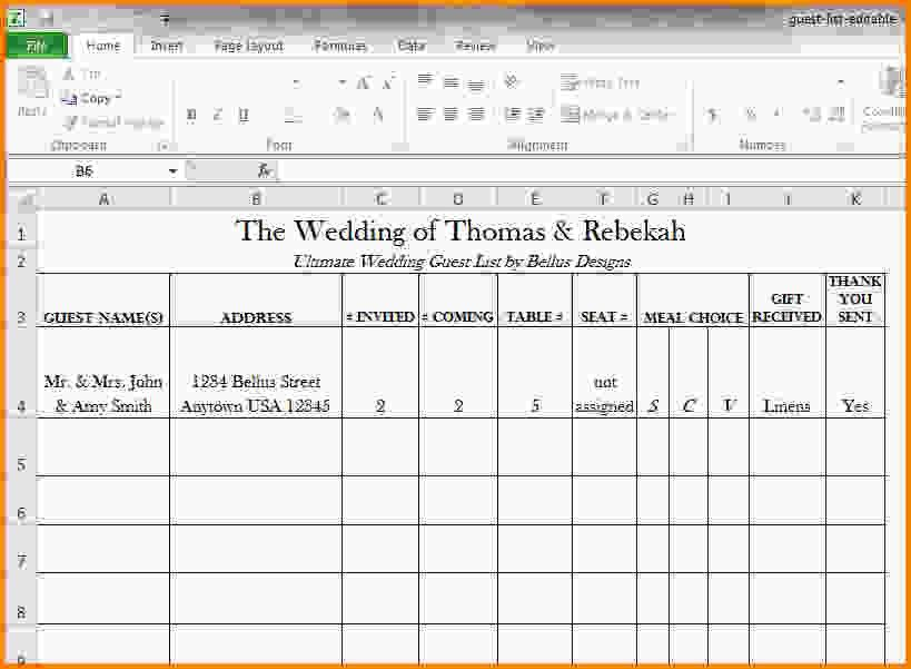 Wedding Guest List Excel.Wedding Guest List Spreadsheet 1024×734 ...