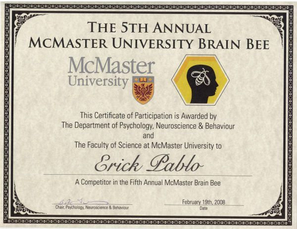 Annual McMaster Brain Bee